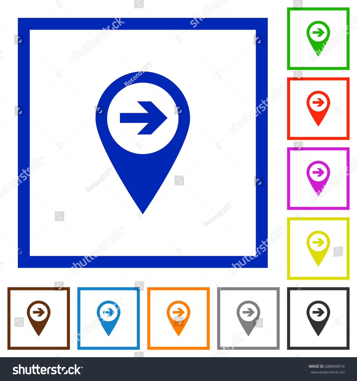 Next Target GPS Map Location Flat Stock Vector 688848916 - Shutterstock