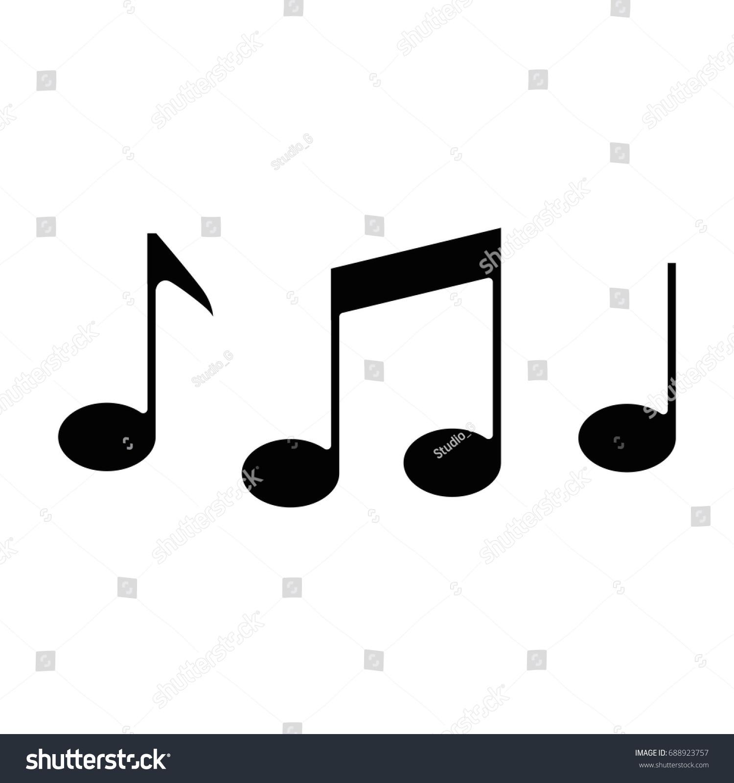 Music note symbol stock vector 688923757 shutterstock music note symbol biocorpaavc