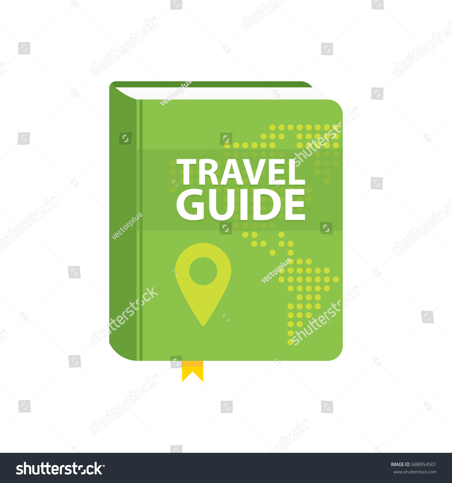 Travel guide book icon world map vectores en stock 688954501 travel guide book icon world map and pin in cover flat vector illustration gumiabroncs Images