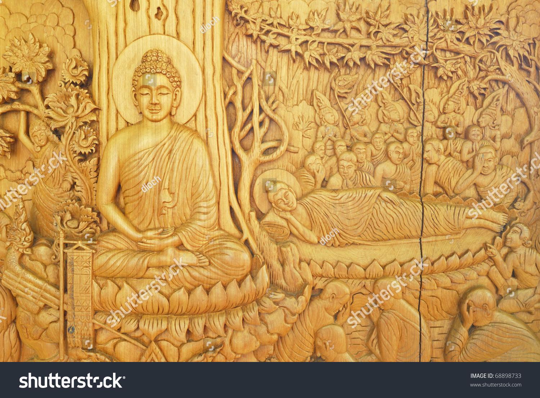 Buddha Native Thai Style Wood Carving Stock Photo (Royalty Free ...