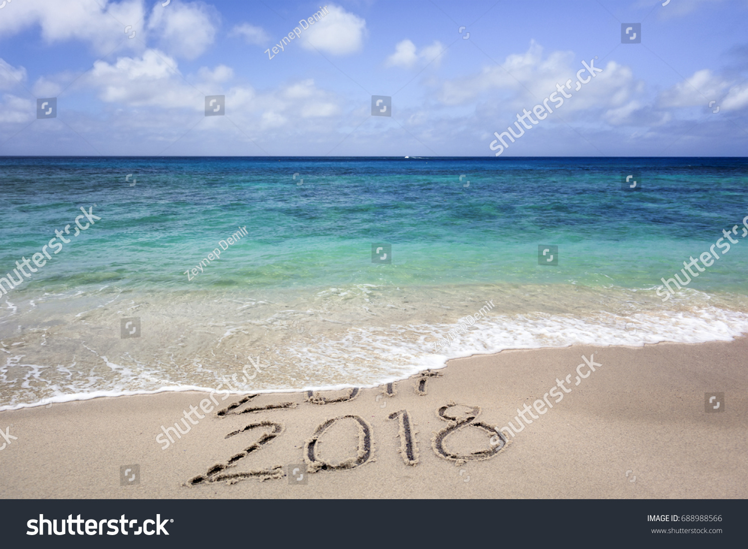 New Year 2018 Coming Concept Happy Stock Photo 688988566 ...