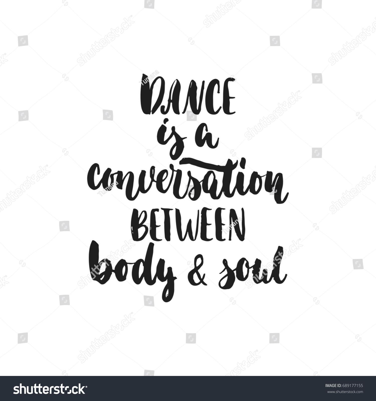 Dance Conversation Between Body Soul Hand Stock Illustration