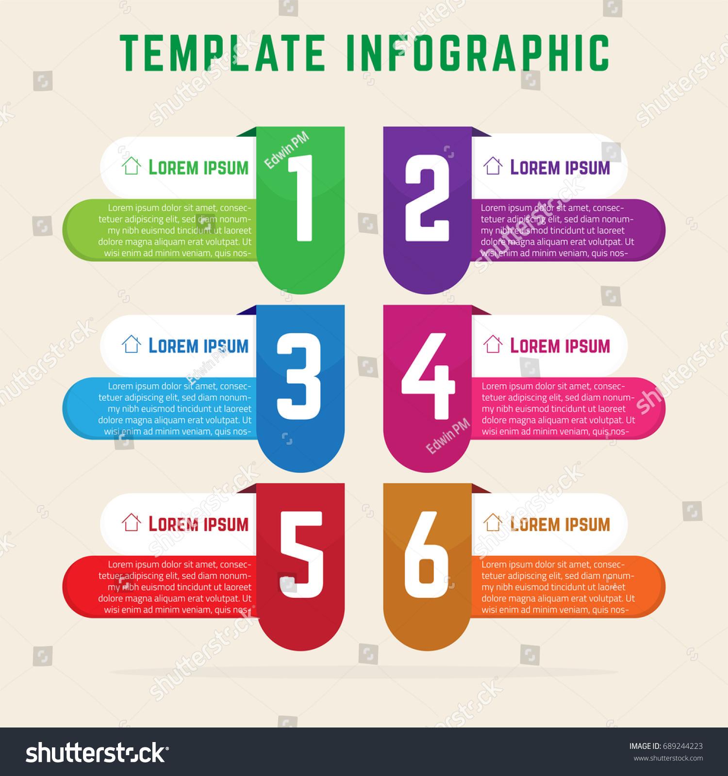 template infographic simple elegant infographics stock stock vector
