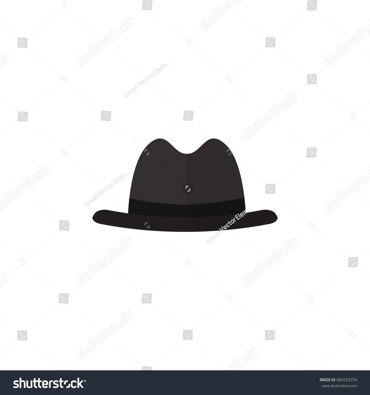 d8c349c7ec5 Isolated Fedora Flat Icon Panama Vector Stock Vector (Royalty Free ...