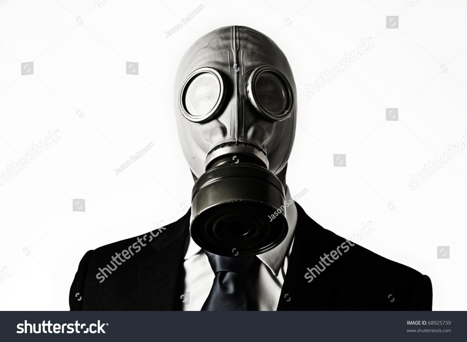 how to draw a person with a toxic mask
