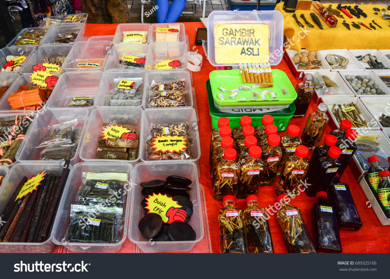 Kota Kinabalu Sabah Malaysia Jul 30 Stock Photo Edit Now 689325106 Gambir Serawak Asli 2017 Traditional Herbs In Dried Form Or