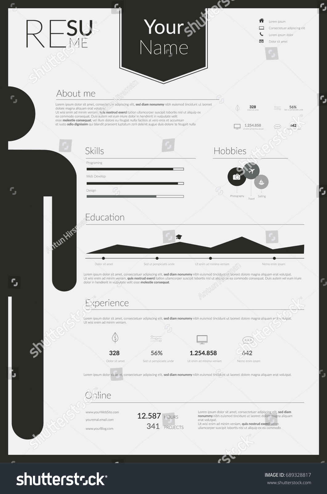 Infographic resume template ai