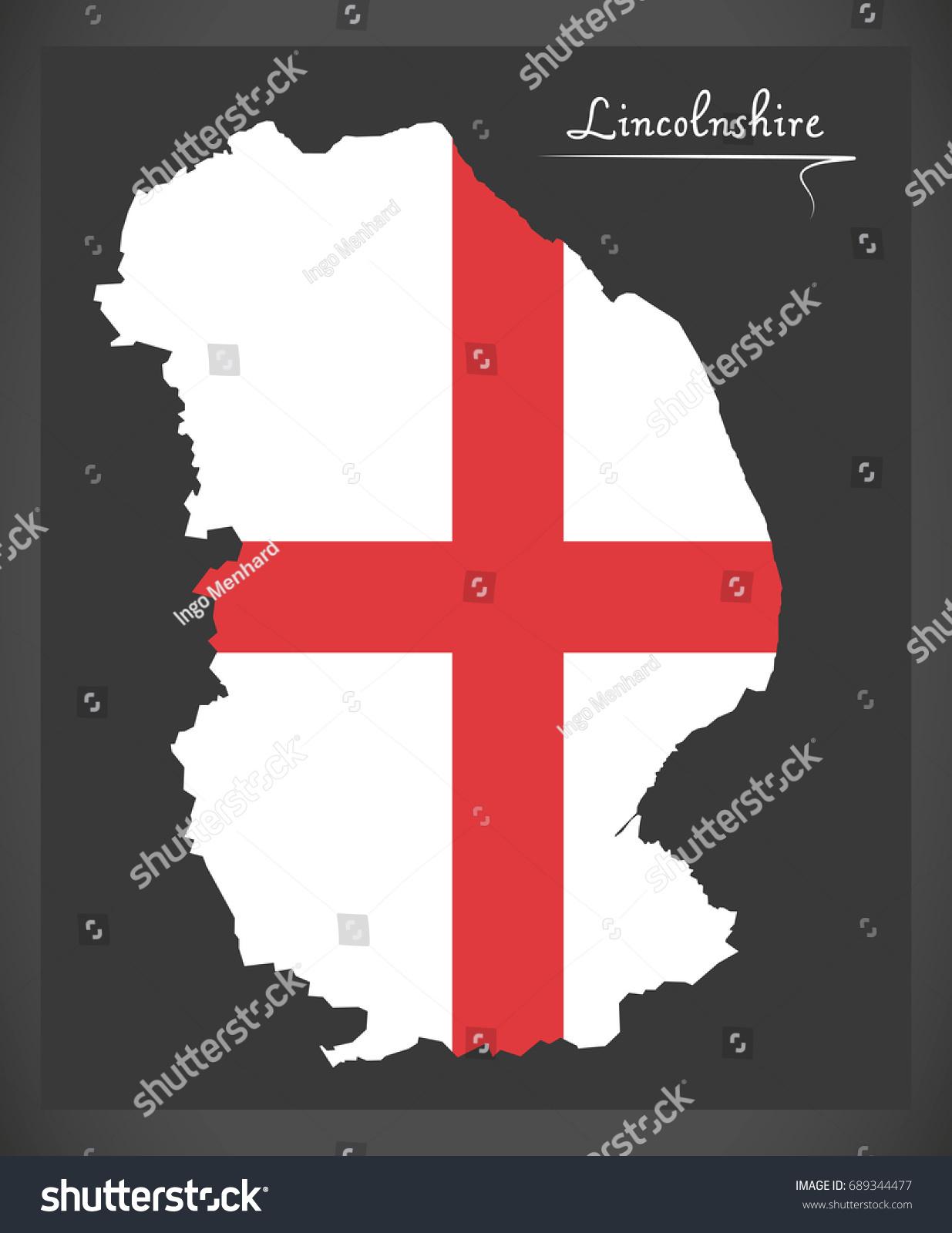 Map Of England Lincolnshire.Lincolnshire Map England Uk English National Stock Vector Royalty