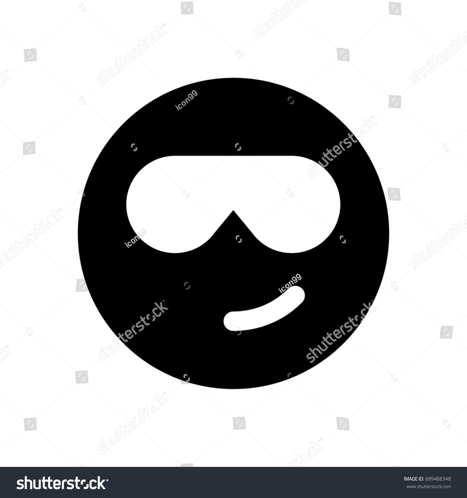 Cool emoji sunglasses stock vector 689488348 shutterstock cool emoji with sunglasses biocorpaavc Images