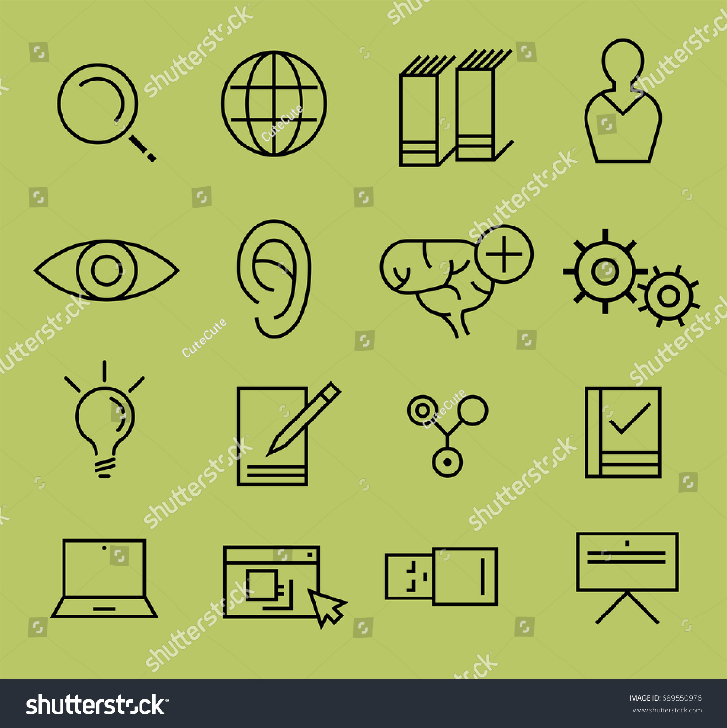 Research icon concept slim style step stock vector 689550976 research icon concept slim style step studying finding analyzing and presenting project biocorpaavc