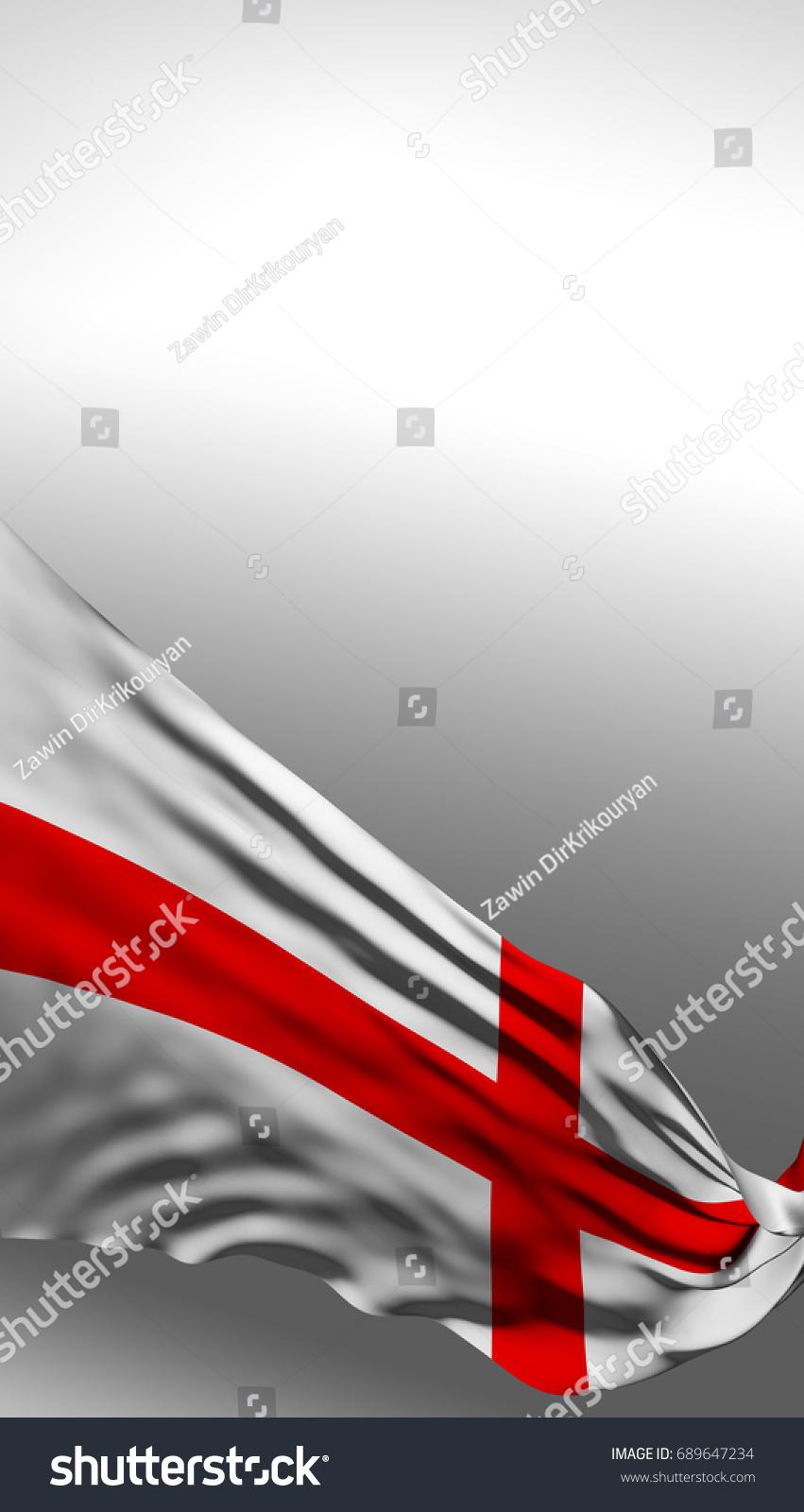 England Flag English Colors 3d Render Stock Illustration 689647234 ...