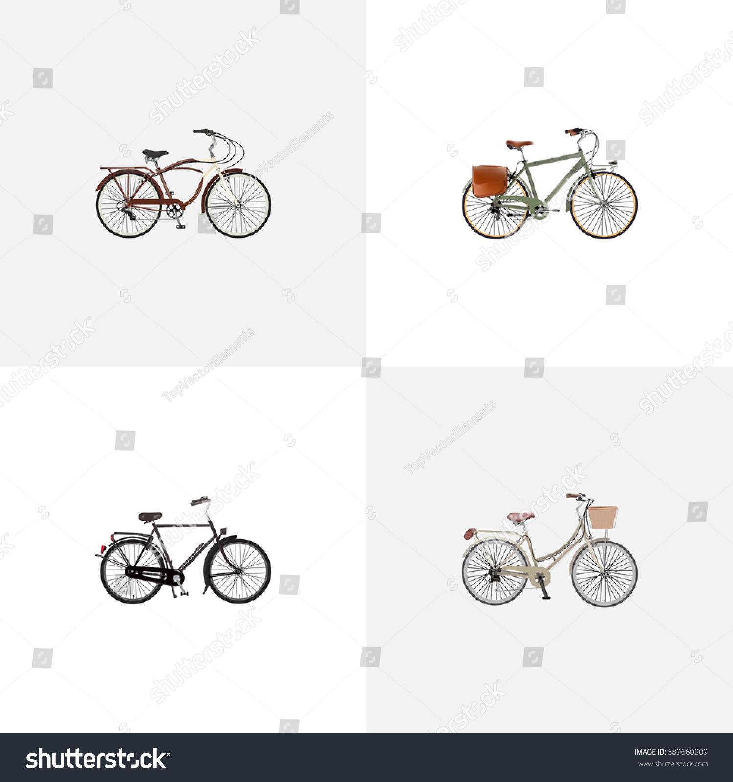 Realistic journey bike brand working vector stock vector 689660809 realistic journey bike brand working vector elements set of bike realistic symbols also biocorpaavc Images