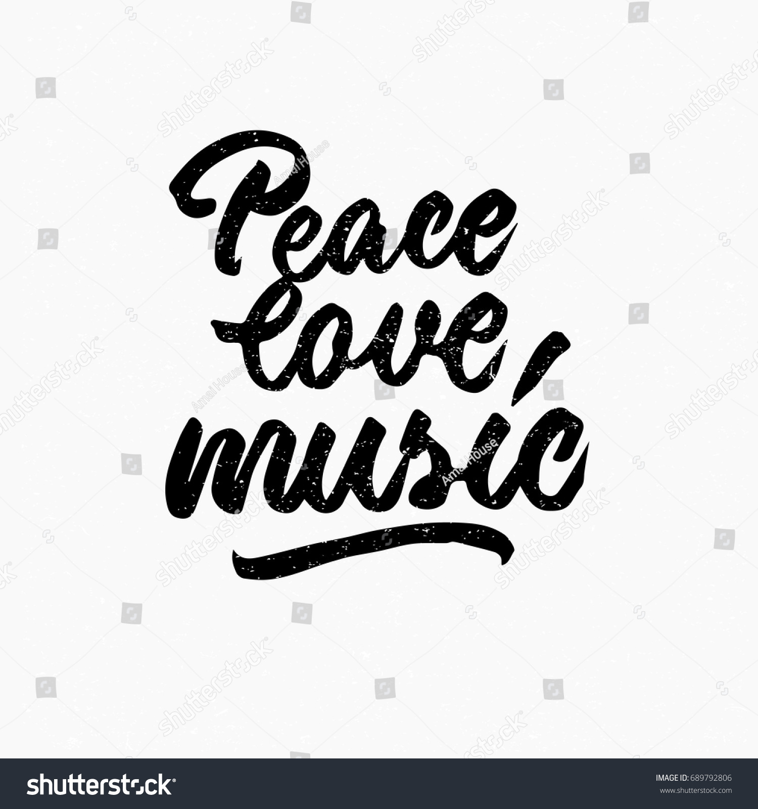 Quotes About Peace And Love Peace Love Music Quote Ink Hand Stock Vector 689792806  Shutterstock
