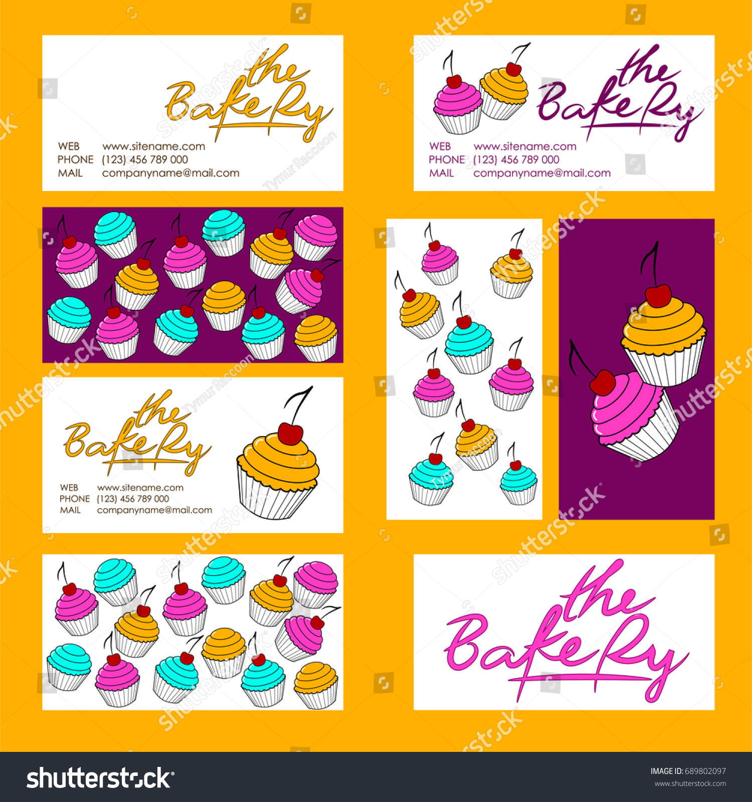 Cupcake Business Card Template Eliolera