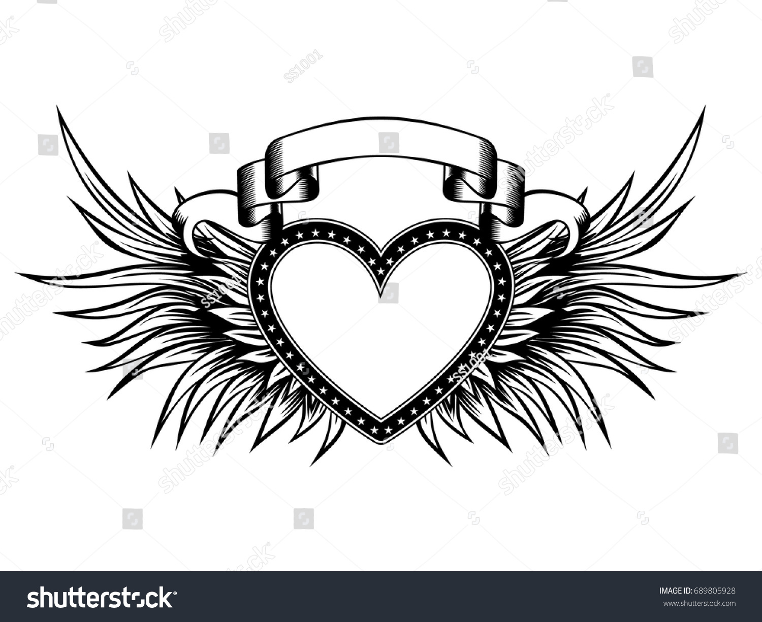 heart with wings and banner wwwtopsimagescom