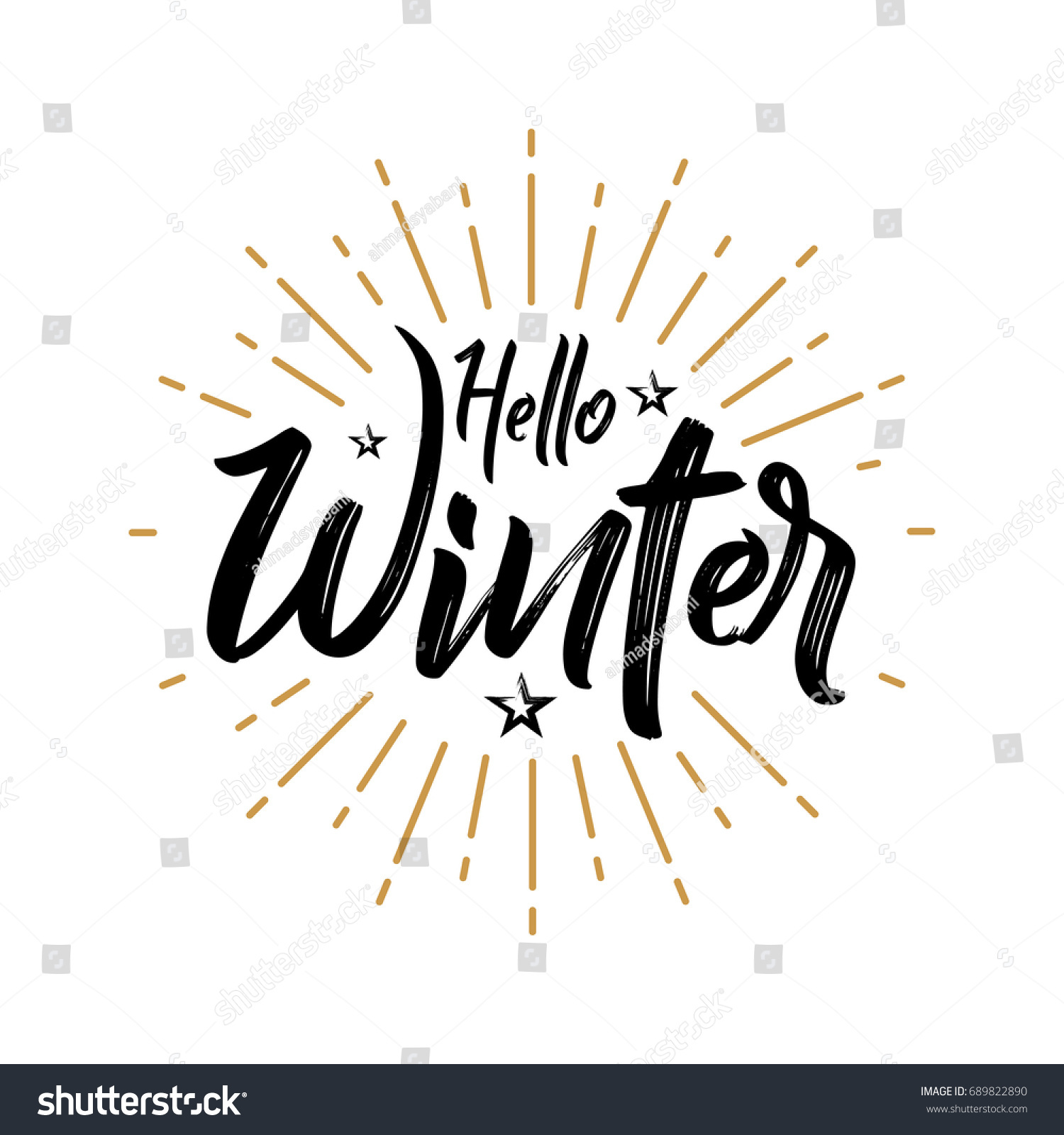 Superbe Hello Winter   Firework   Vector For Greeting, Celebrate, Holiday, Season