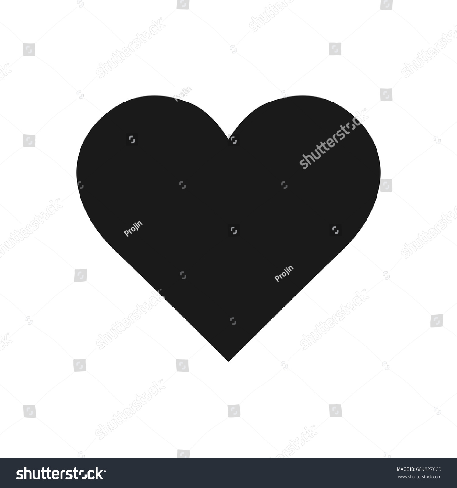 Shape symbolic heart ivy leaf black stock vector 689827000 the shape of a symbolic heart or an ivy leaf black heart icon vector biocorpaavc Gallery