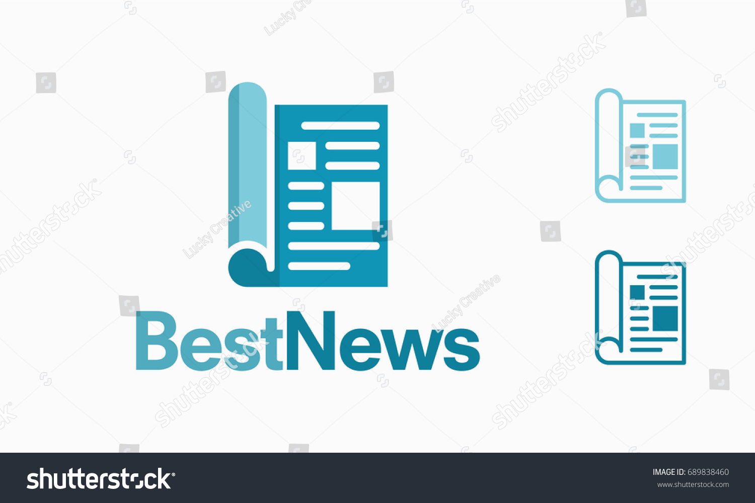 Modern Newspaper Logo Template Best News Stock Vector 689838460 ...