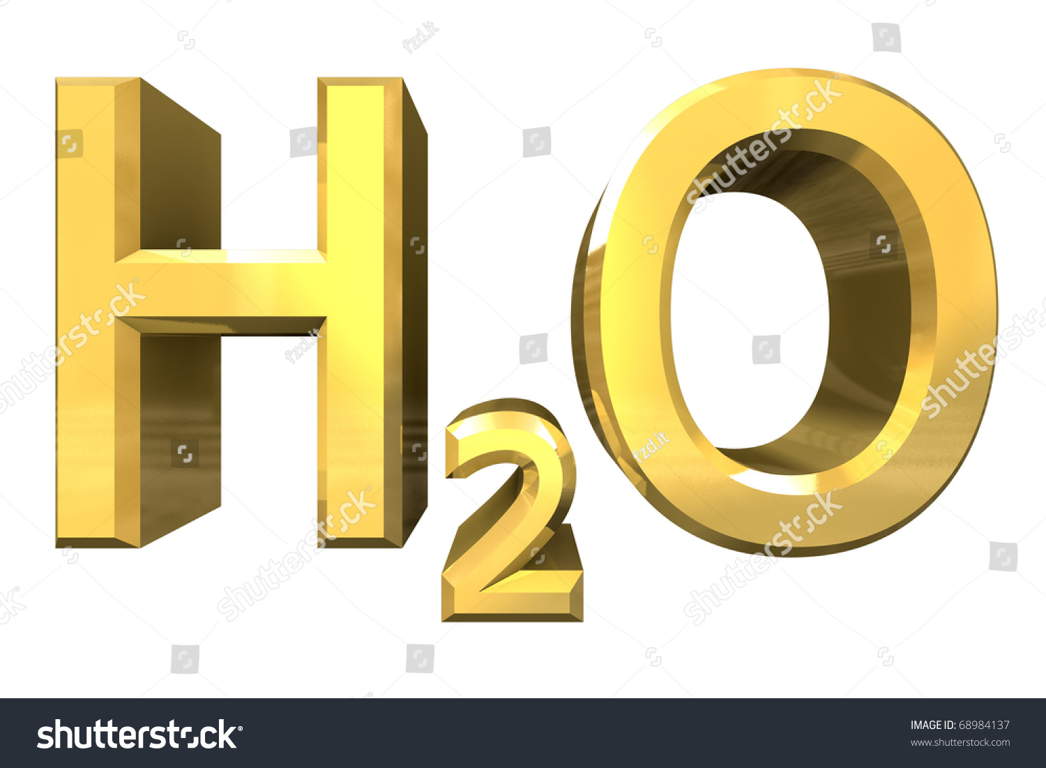 H2o water chemical symbol stock illustration 68984137 shutterstock h2o water chemical symbol buycottarizona Choice Image