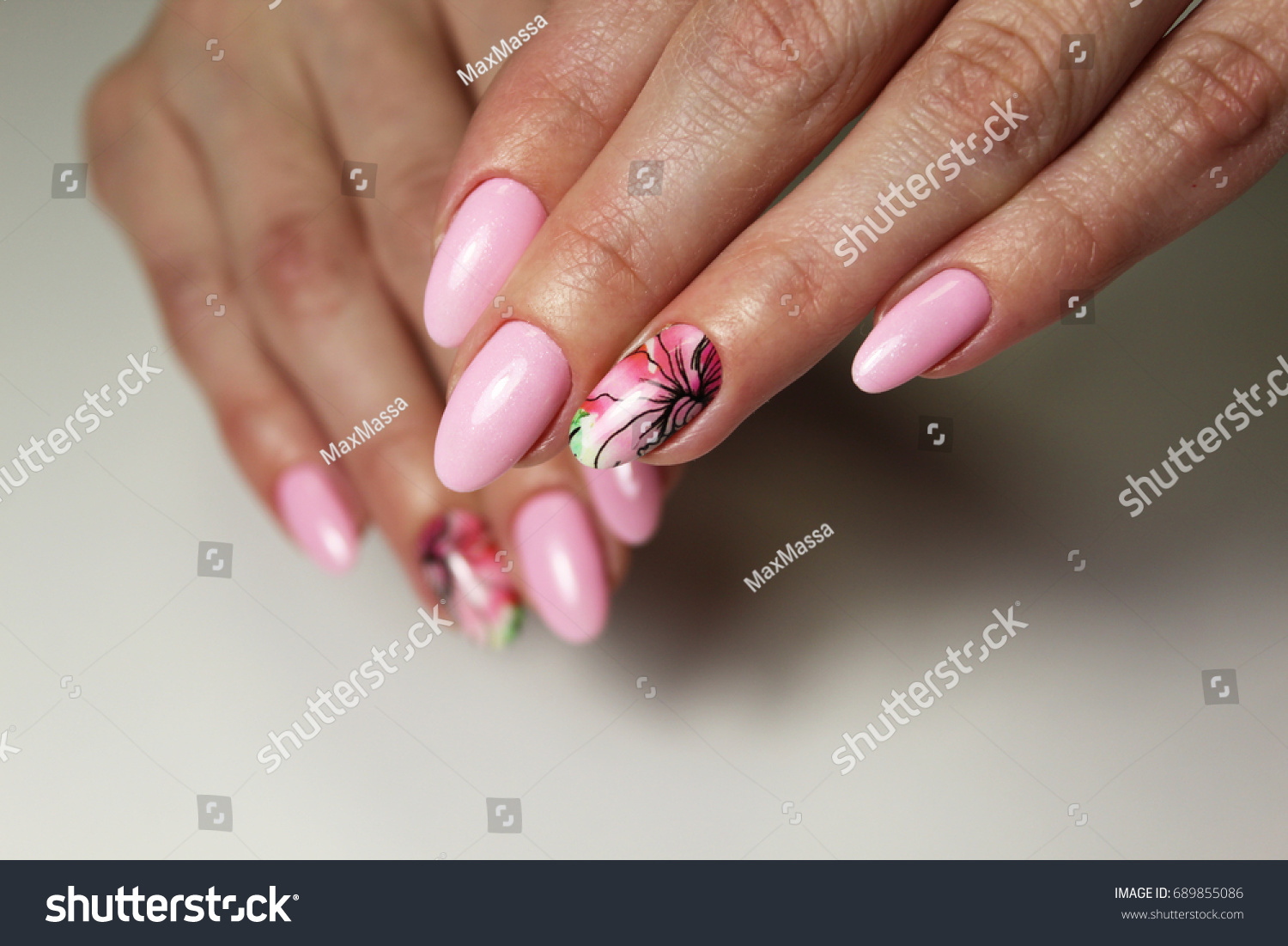 Nail Design Different Color Stock Photo (Edit Now)- Shutterstock