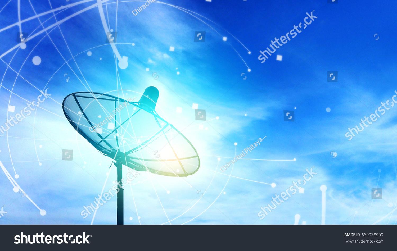 Satelliet Cable TV Connection Concept Stock Photo (Edit Now ...