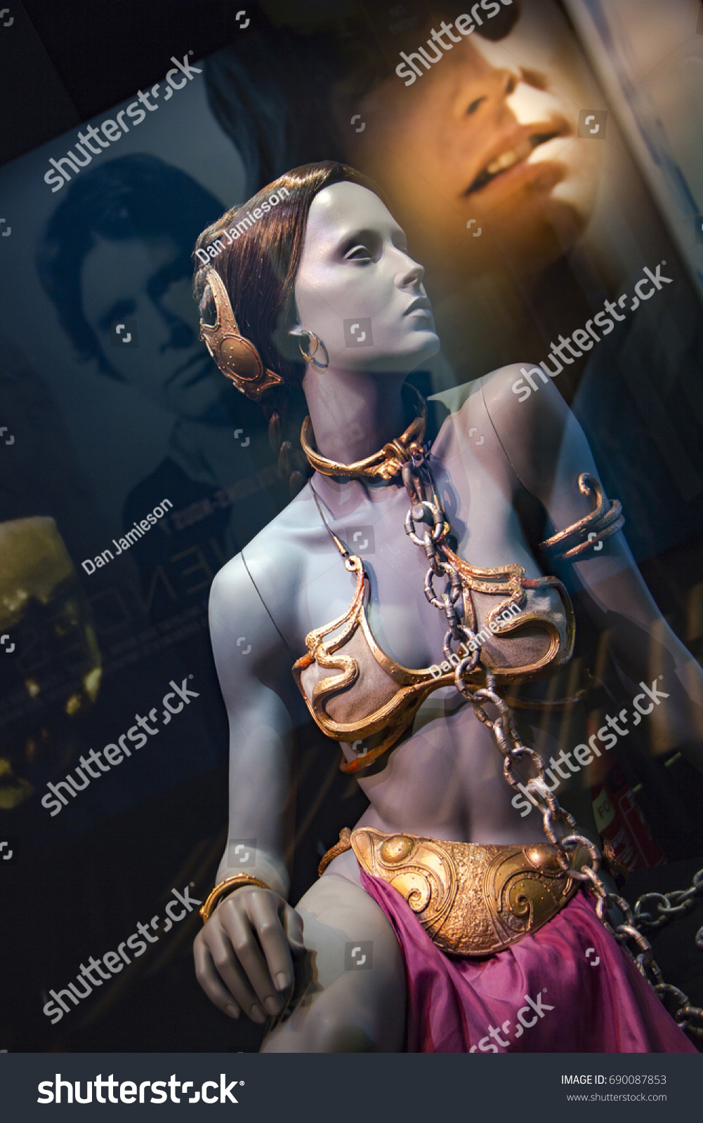 Original Princess Leia Slave Bikini Costume The Arts Stock Image