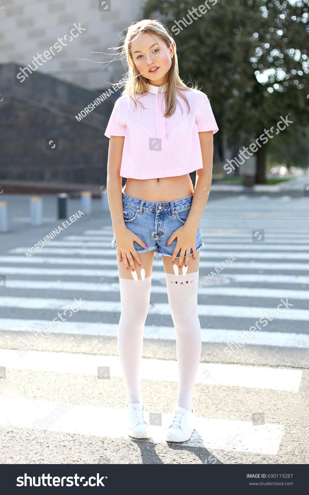 That Young teen girls socks