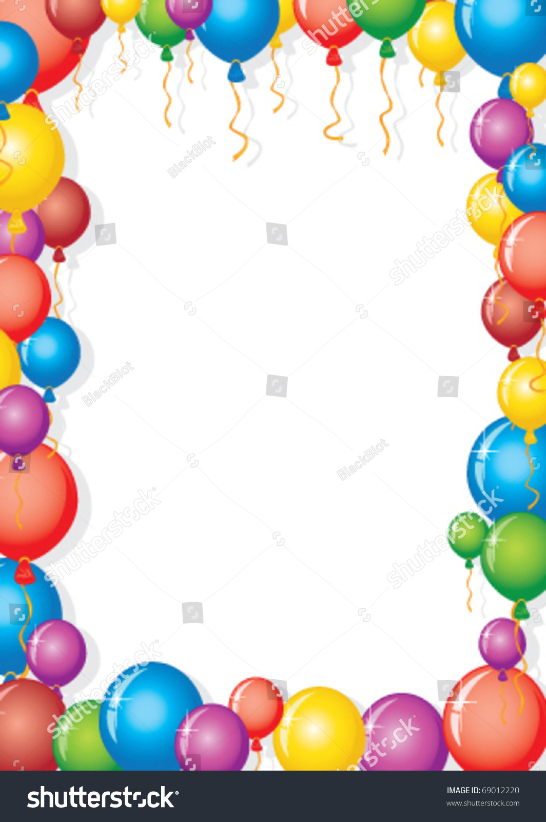 vector balloon frame party background
