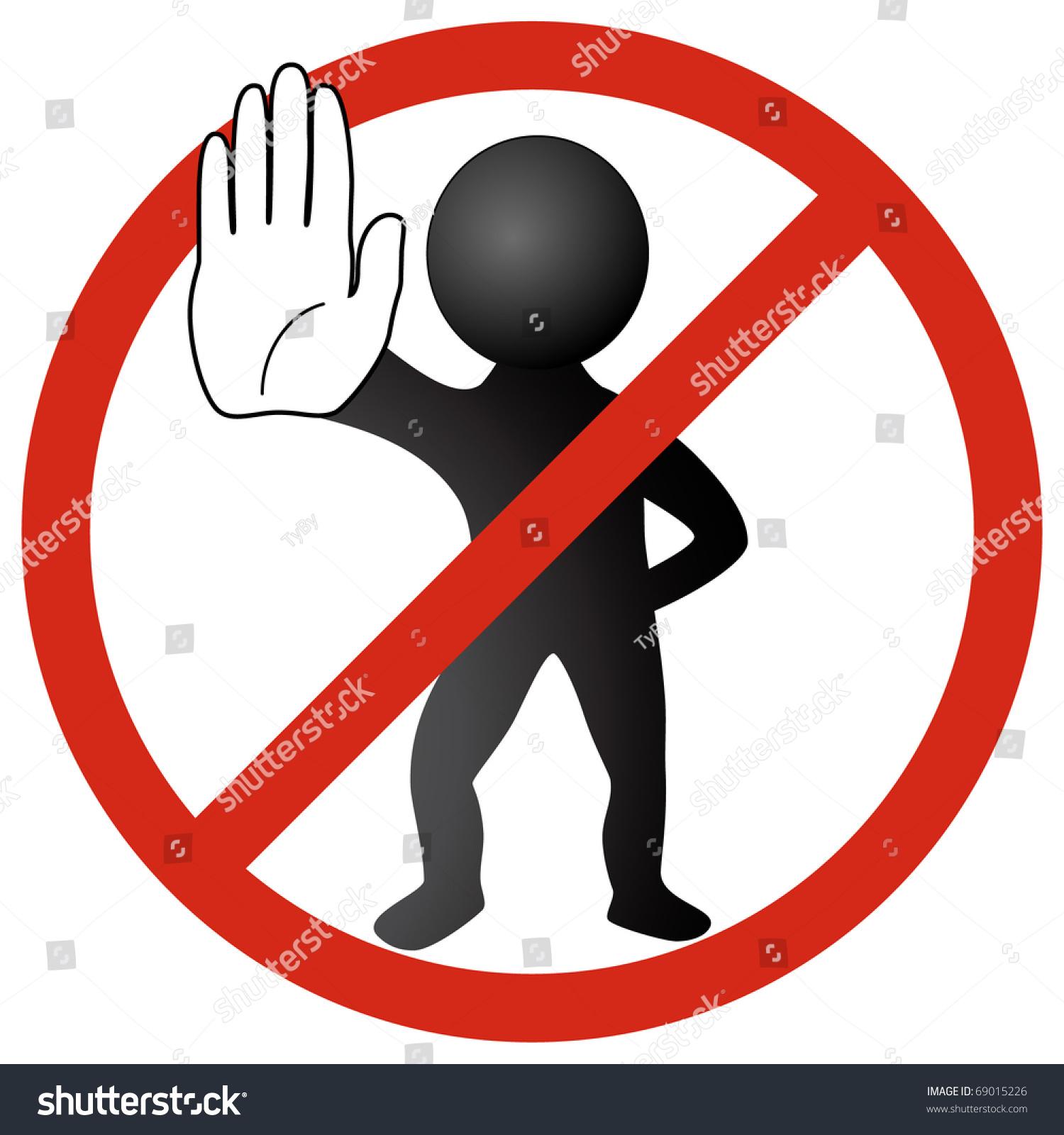 do not signs clip art