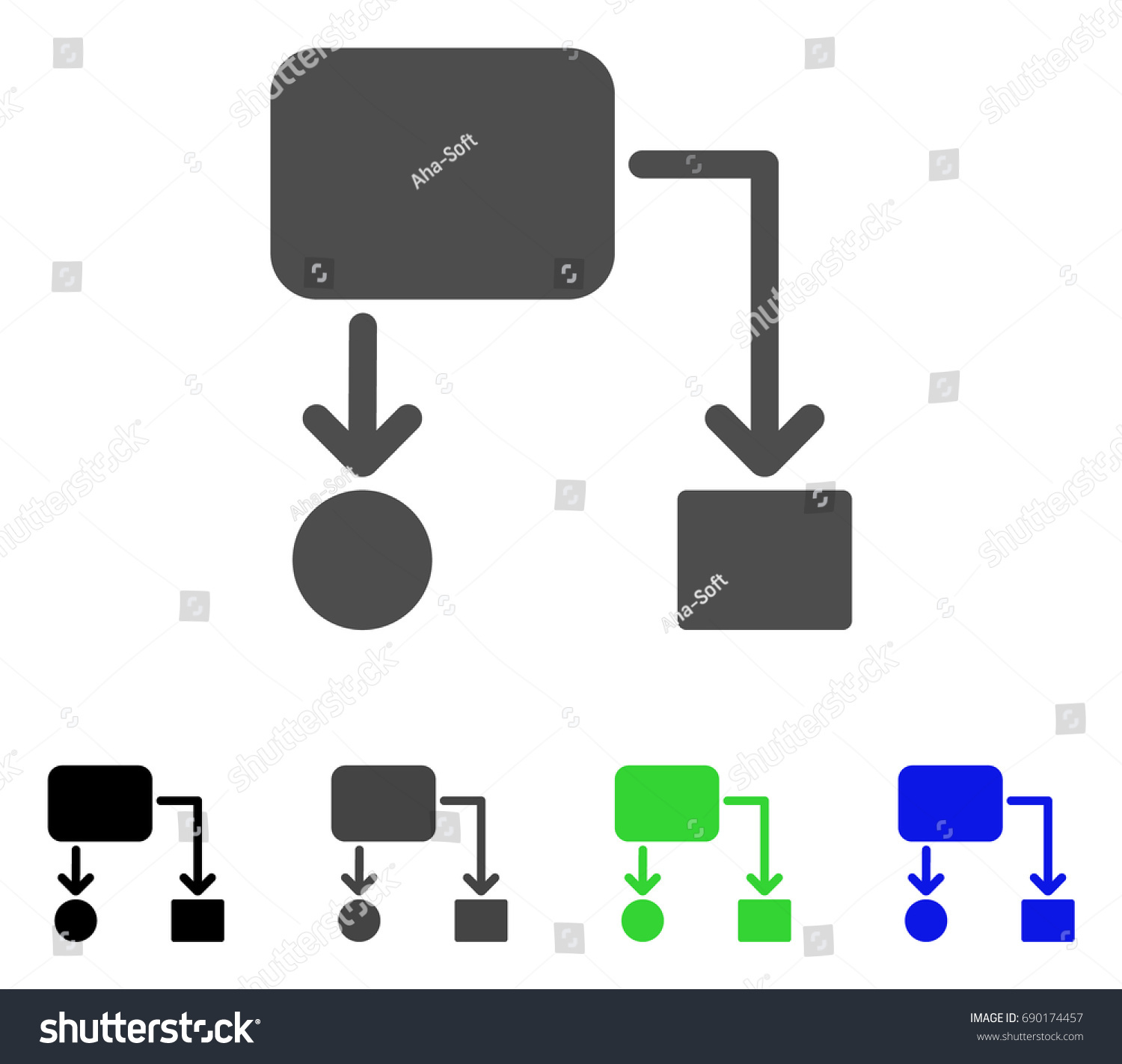 Flow chart flat vector illustration colored stock vector 690174457 flow chart flat vector illustration colored flow chart gray black blue geenschuldenfo Image collections