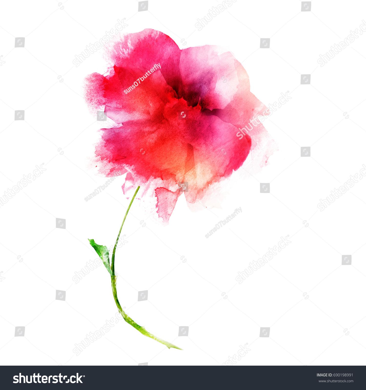 Beautiful watercolor flower | EZ Canvas