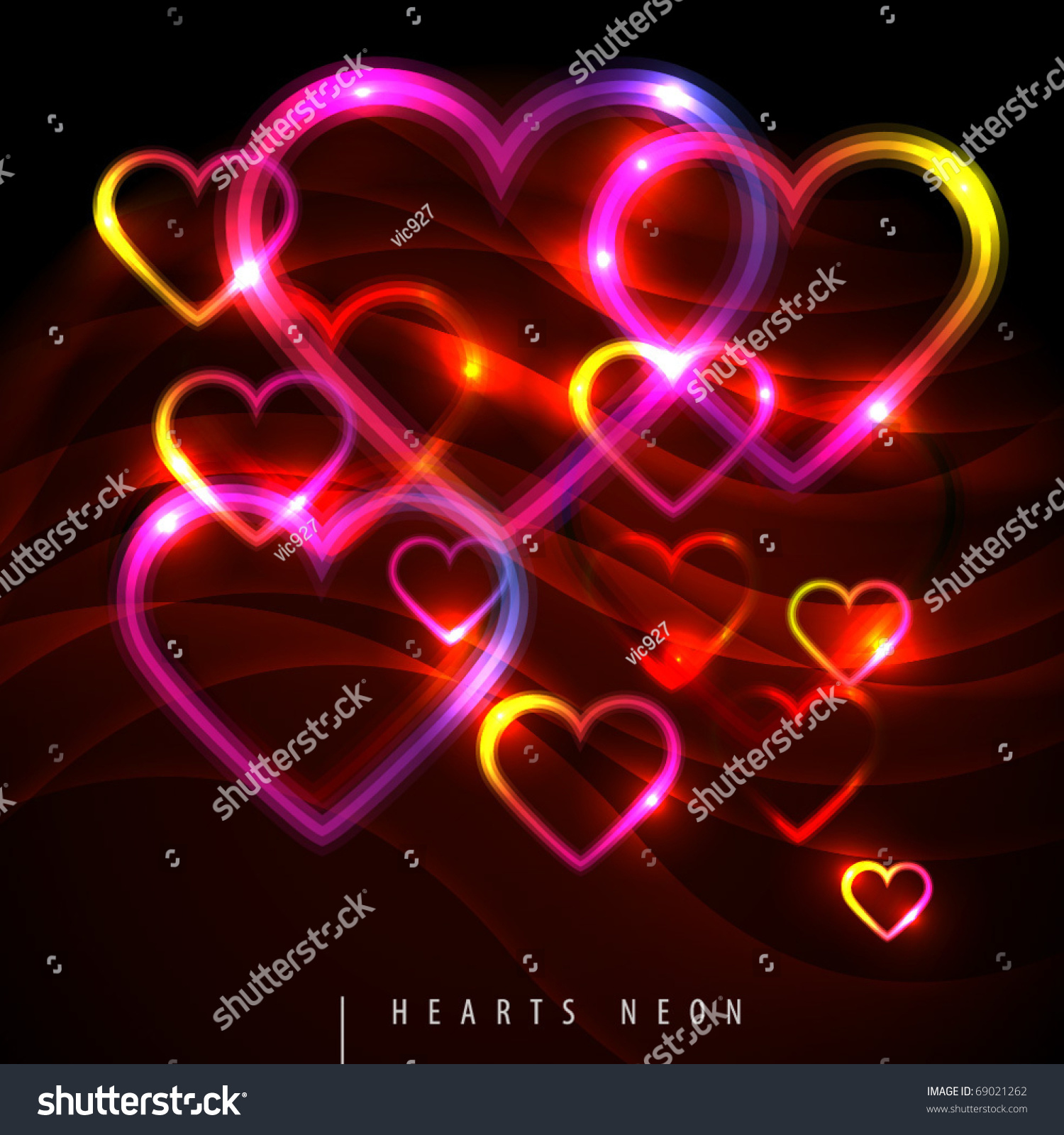 Related Keywords & Suggestions for neon colored hearts