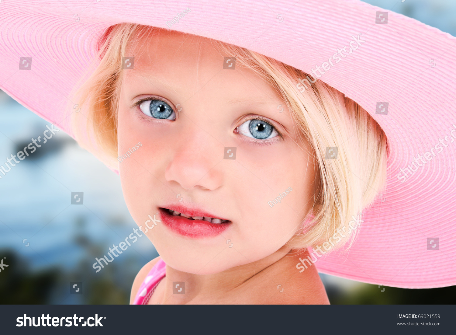 Beautiful Five Year Old Girl Big Stock Photo 69021559