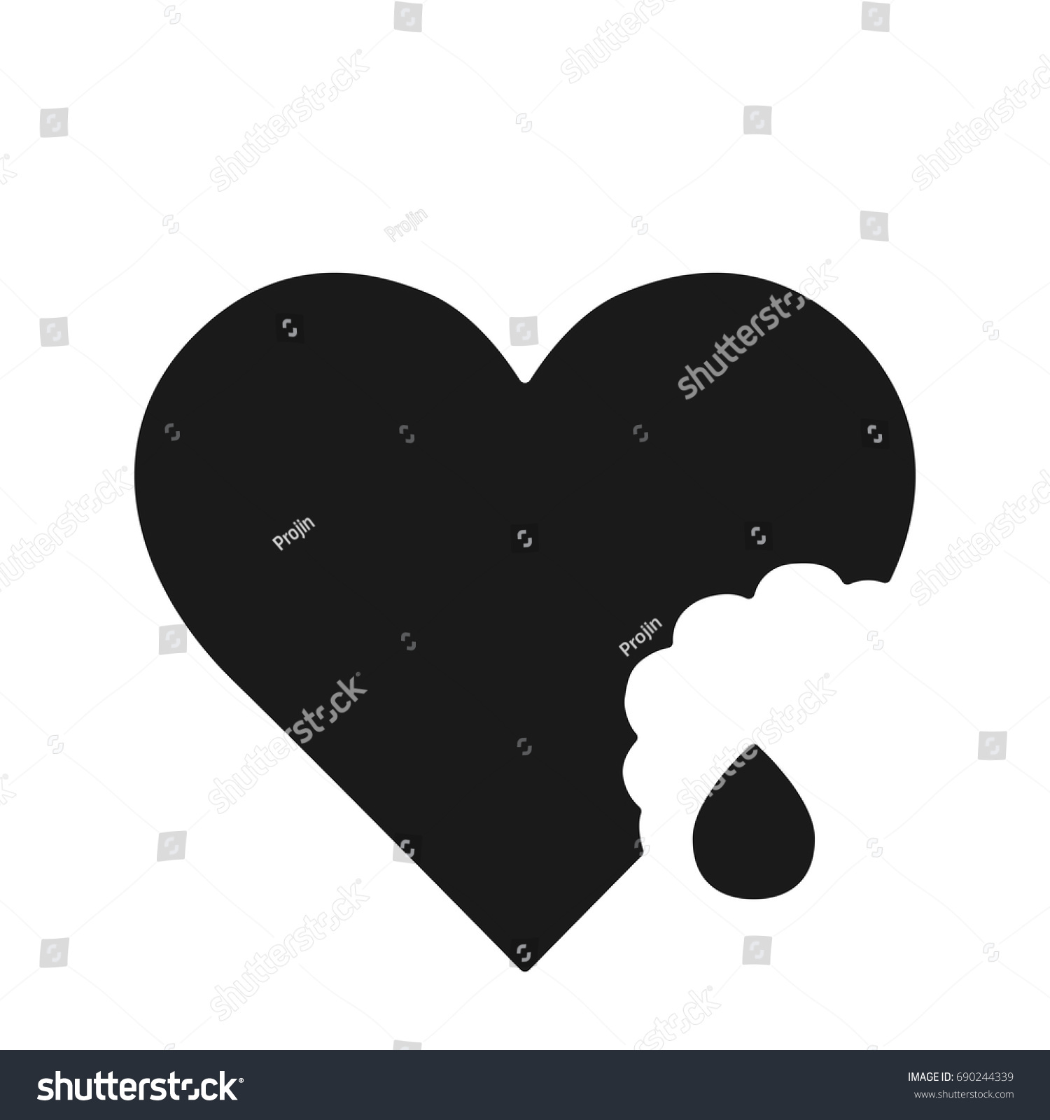 Shape symbolic heart ivy leaf black stock vector 690244339 the shape of a symbolic heart or an ivy leaf black heart icon vector biocorpaavc Gallery