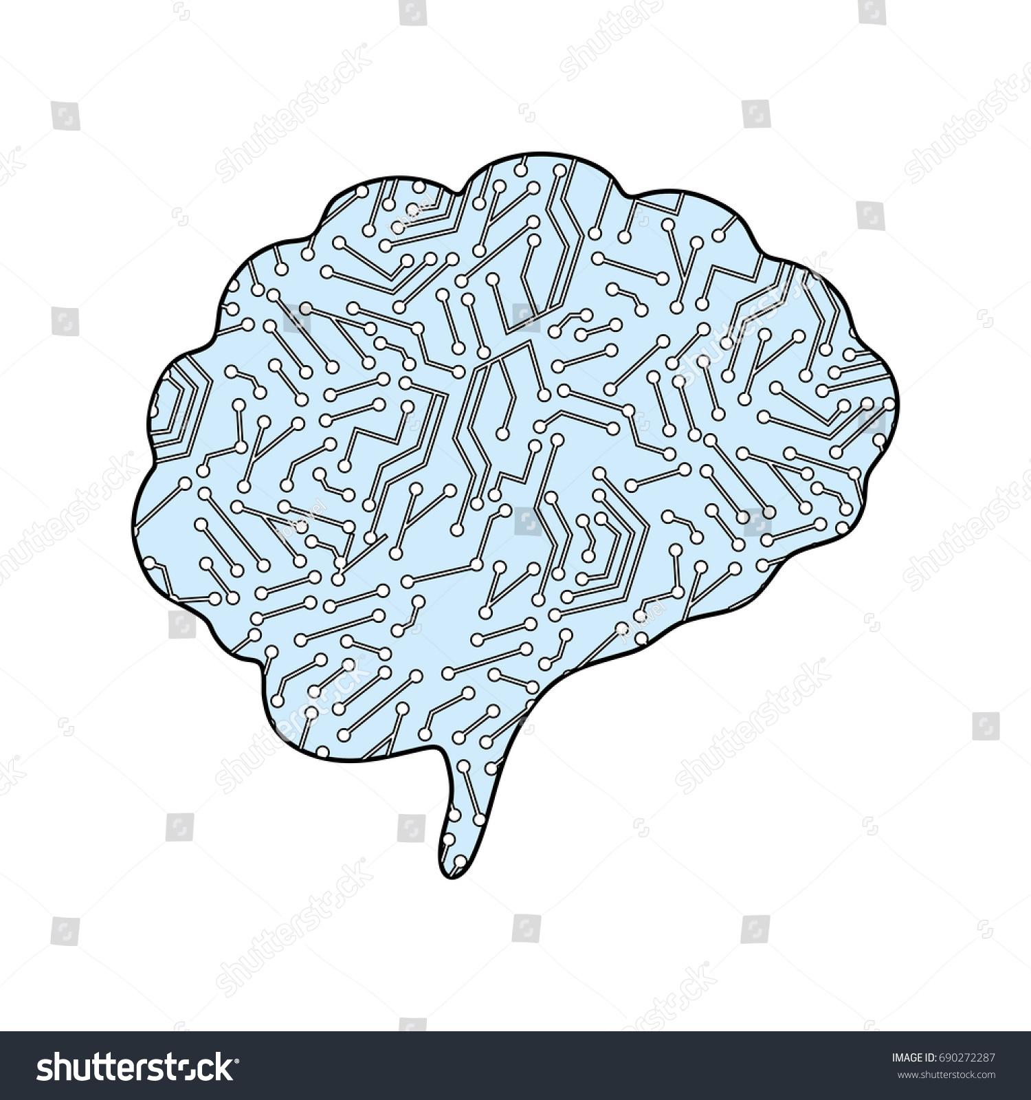 Human brain symbol stock vector 690272287 shutterstock human brain symbol biocorpaavc Images