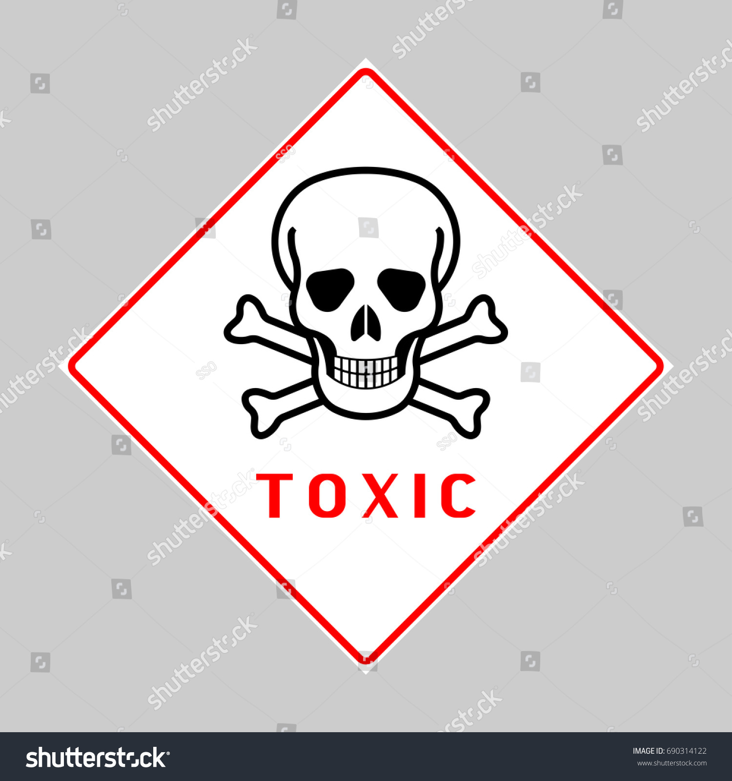 acute toxicity hazard warning sign acute stock vector royalty free