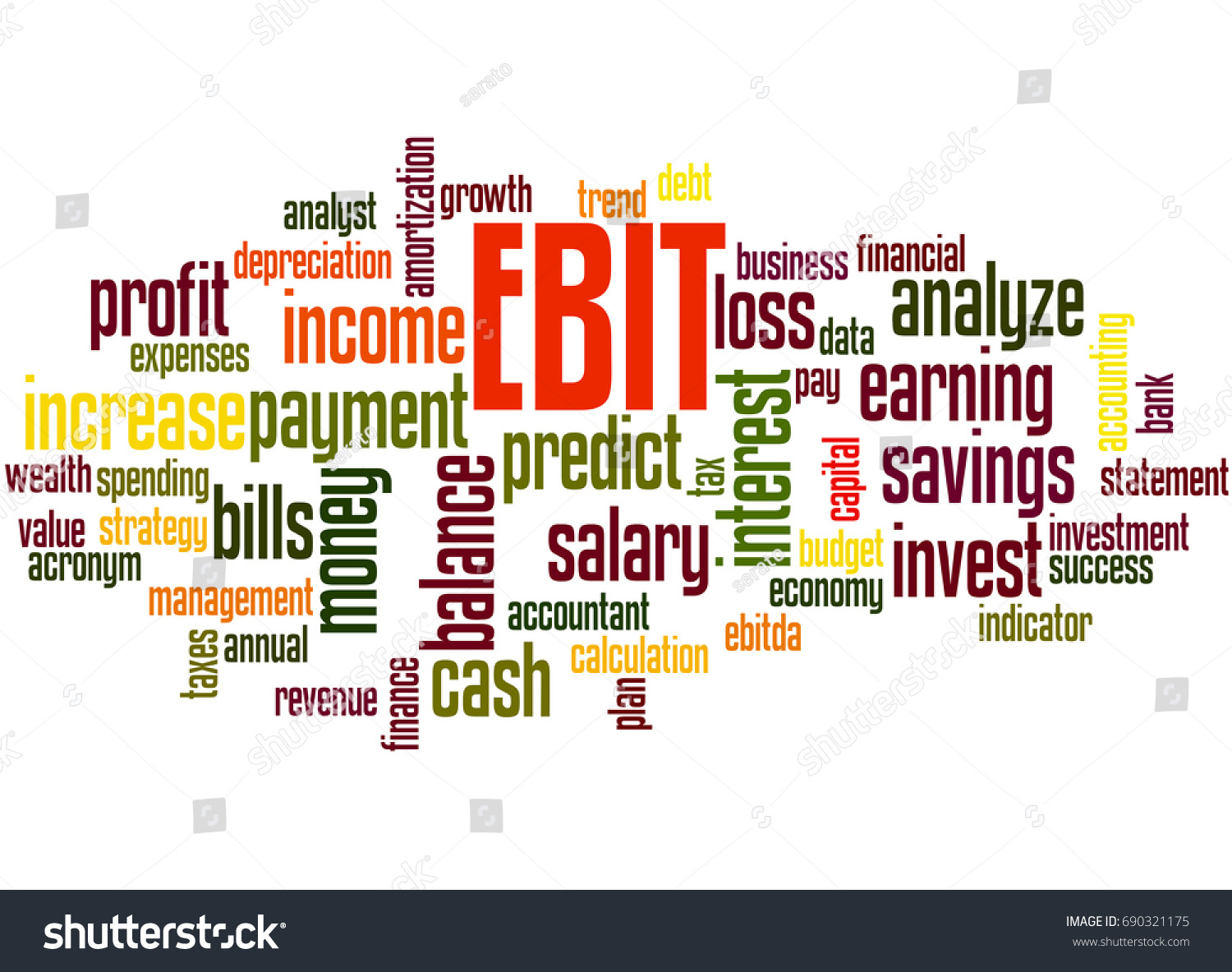 earnings before interest and taxes and Earnings before interest taxes depreciation and amortization (ebitda) – earnings before interest, taxes, depreciation and amortization: equal to the gross margin.