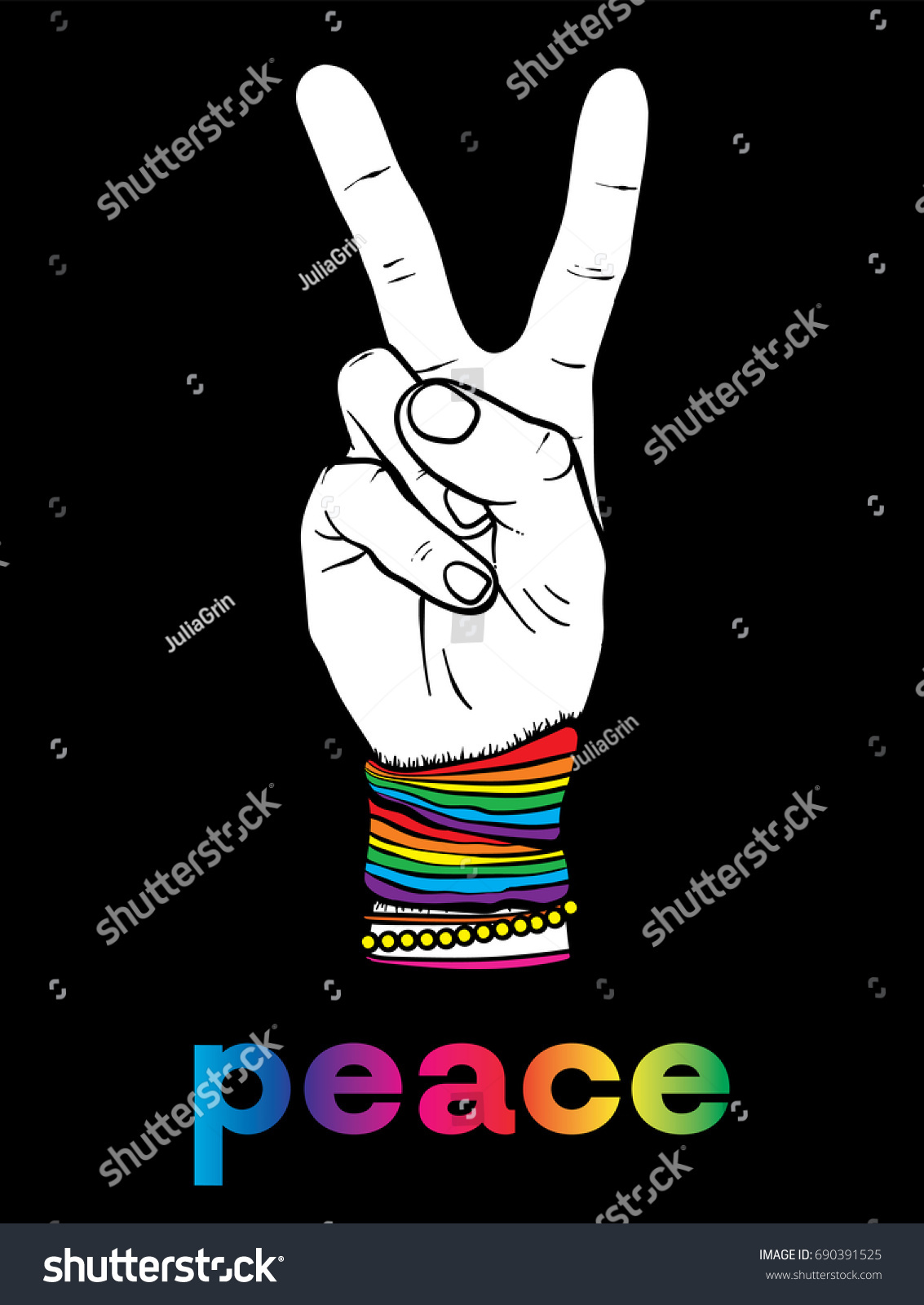 Symbol pacifism hippies hand two fingers stock vector 690391525 symbol pacifism hippies hand two fingers stock vector 690391525 shutterstock biocorpaavc Images