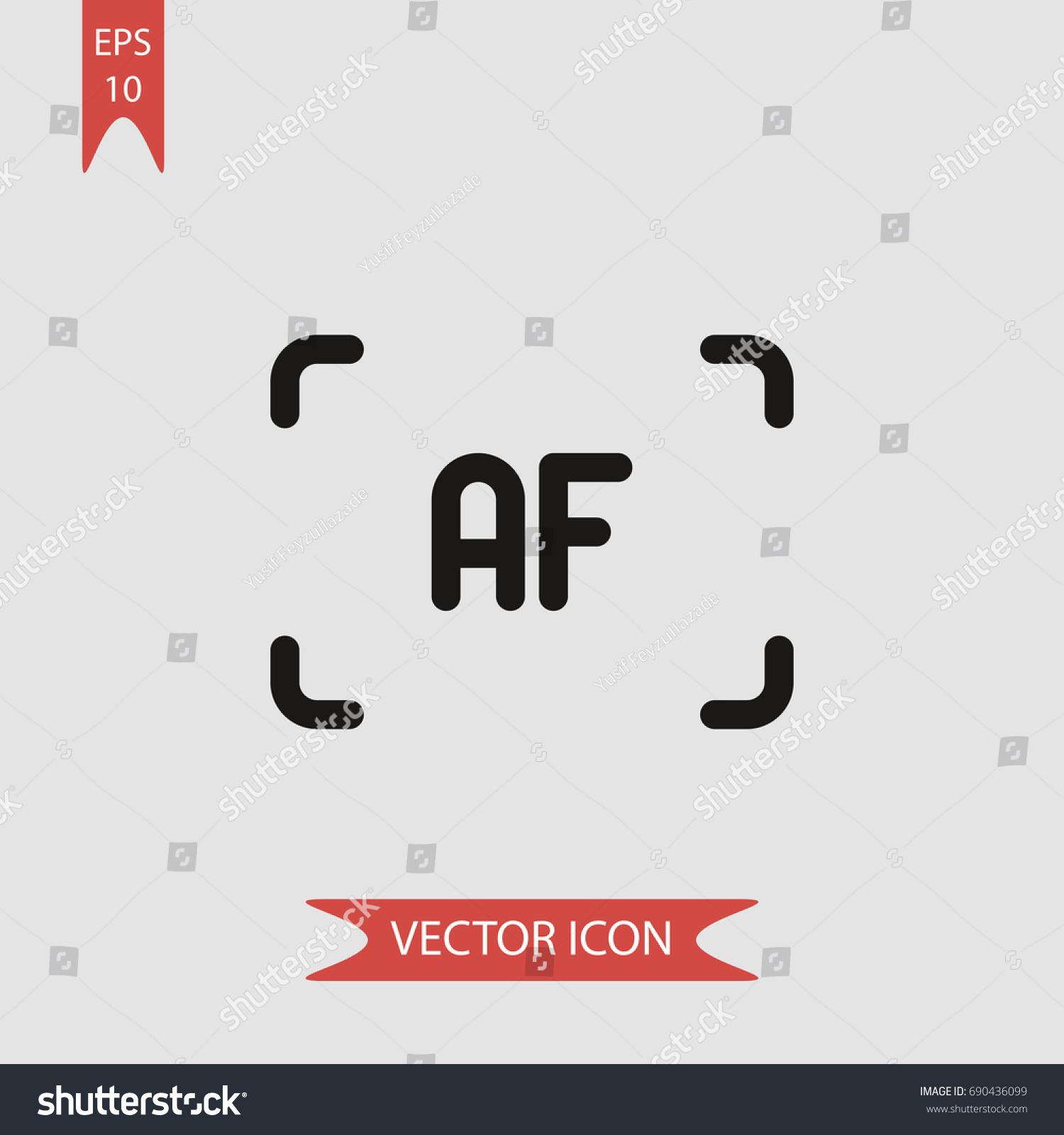 Auto focus vector icon illustration symbol stock vector 690436099 auto focus vector icon illustration symbol biocorpaavc