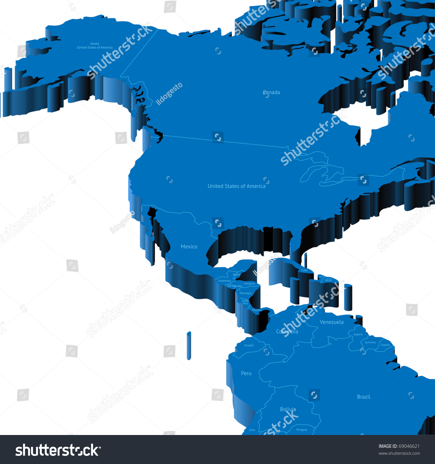Map Of United States Alaska Central America With National - Alaska america map