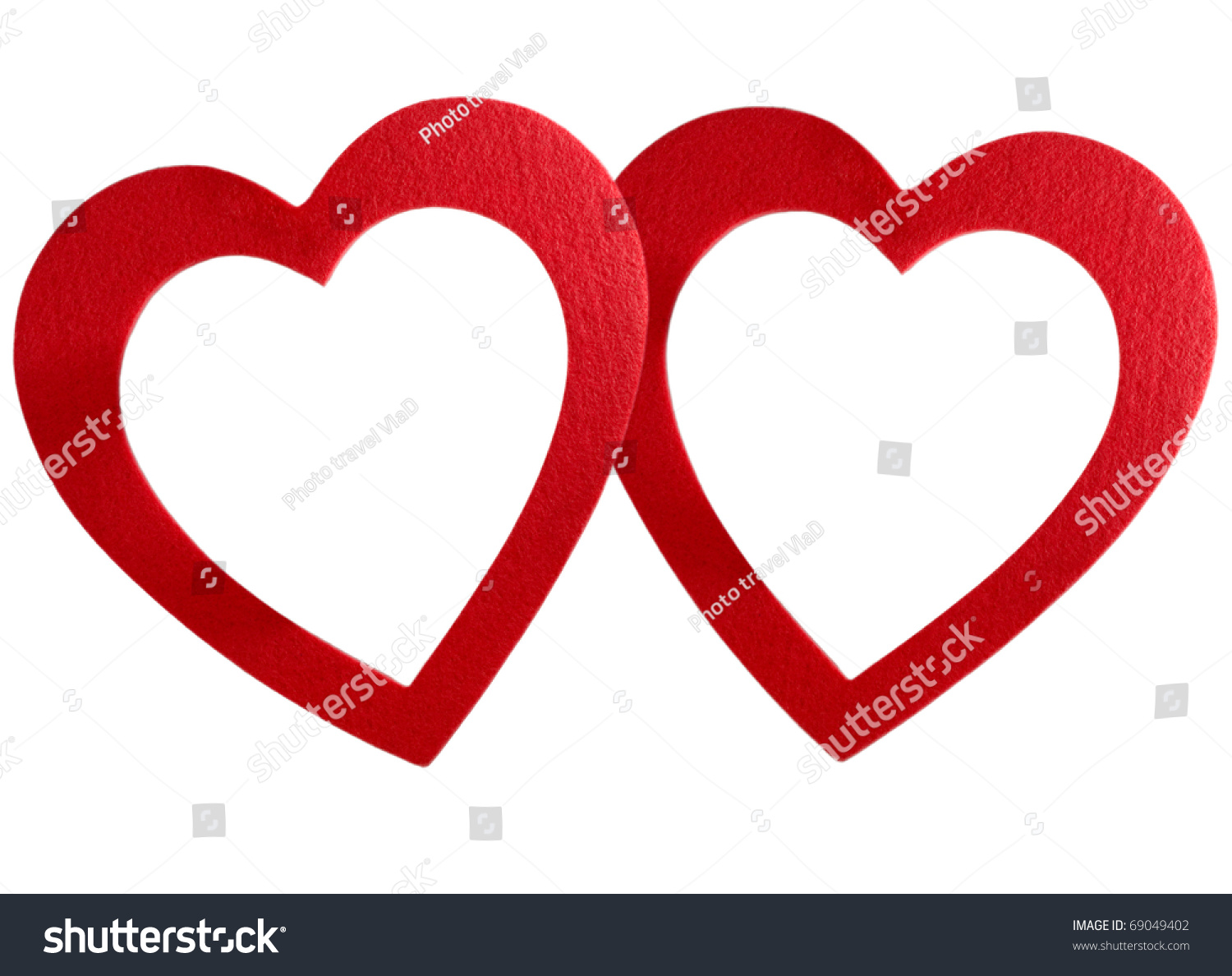 Big Red Heart Frame Isolated On Stock Photo (Edit Now) 69049402 ...