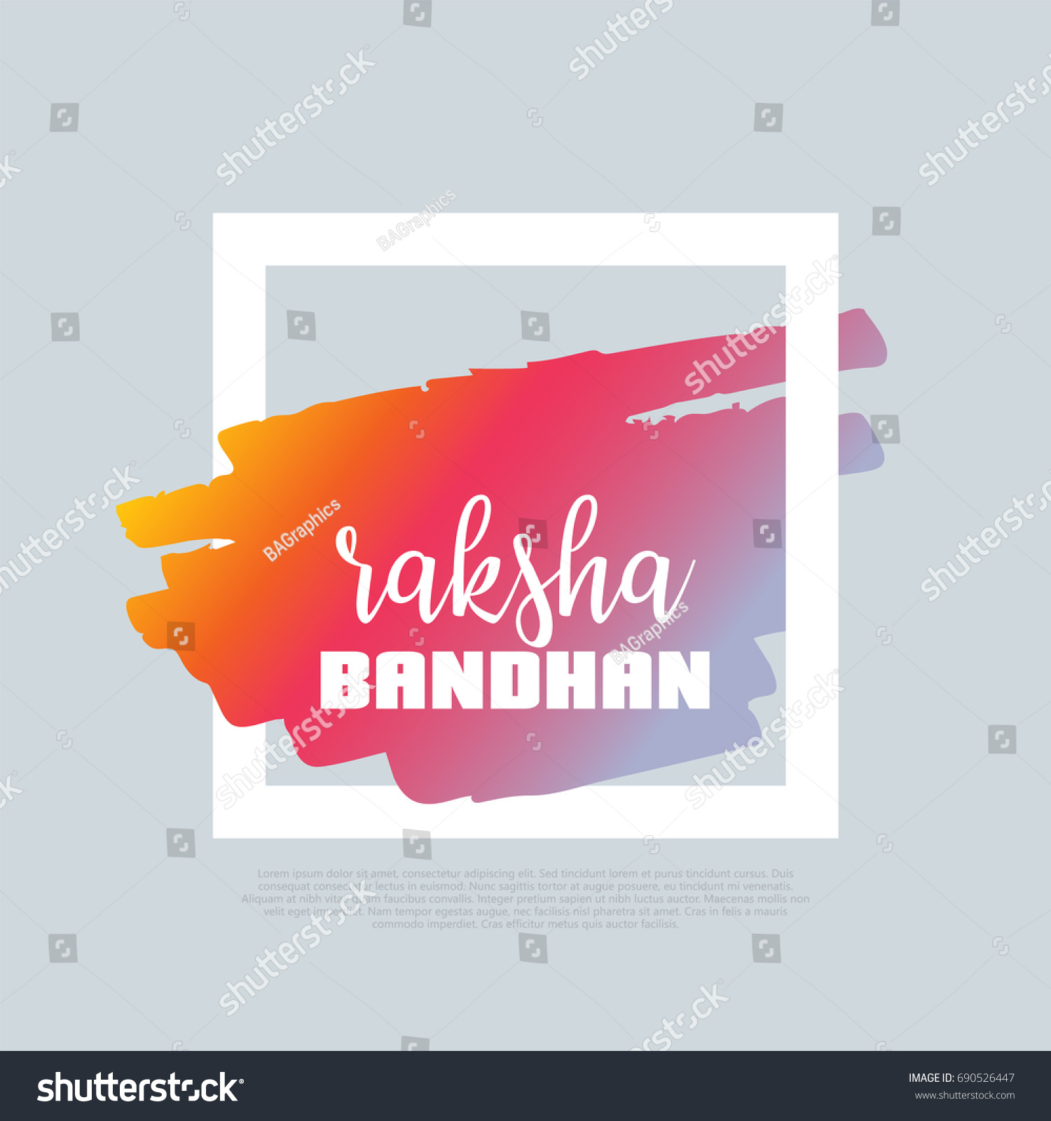 raksha bandhan vector clipart design template stock vector (royalty