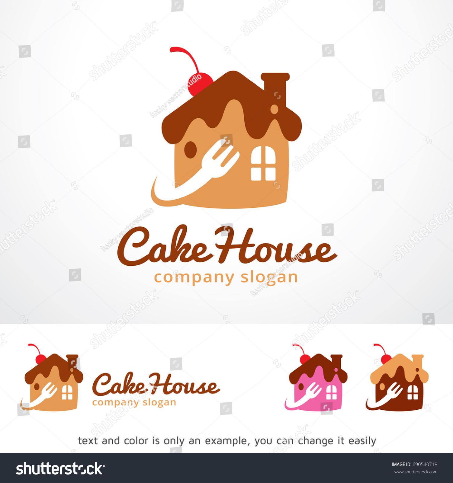 Cake House Logo Template Design Vector Image Vectorielle De Stock