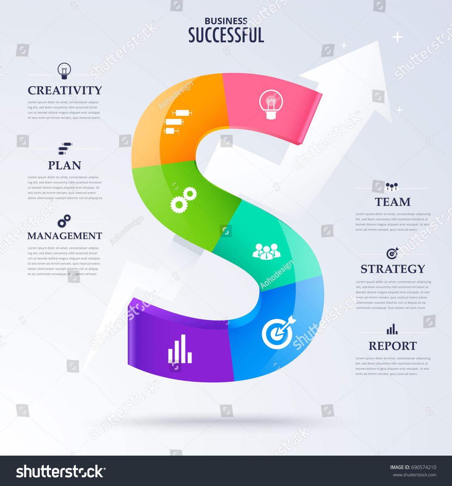 Infographic business successful concept character word stock infographic business successful concept character word s for success concept vector diagram ccuart Images
