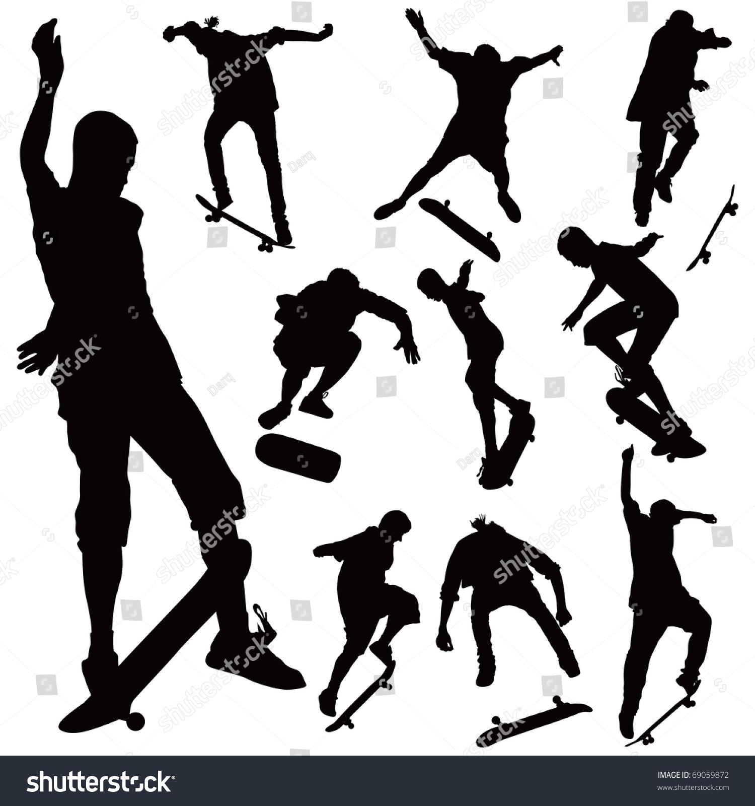 Jumping On Skate Board... Roller Derby Skate Drawing