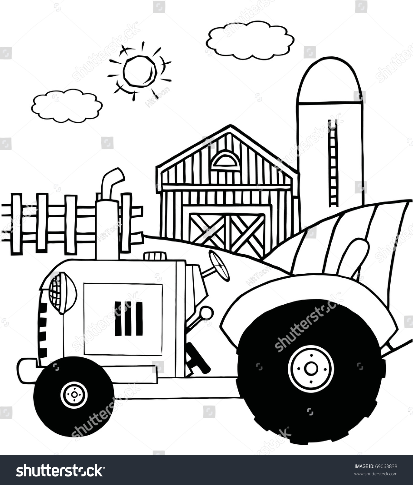 barns coloring pages of farm silos eliolera - Barns Coloring Pages Farm Silos