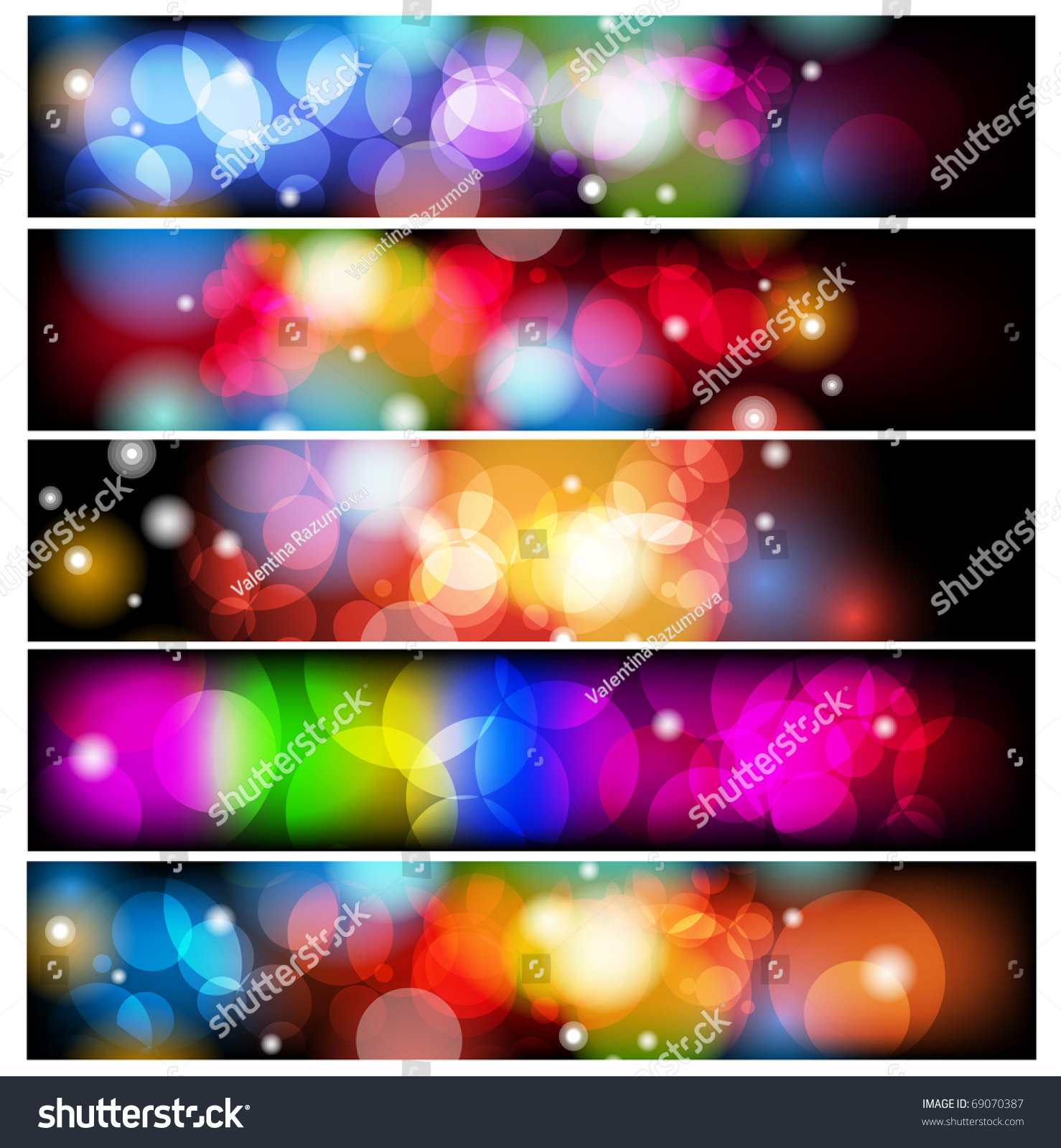 Set Of Abstract Colorful Backgrounds. Stock Vector
