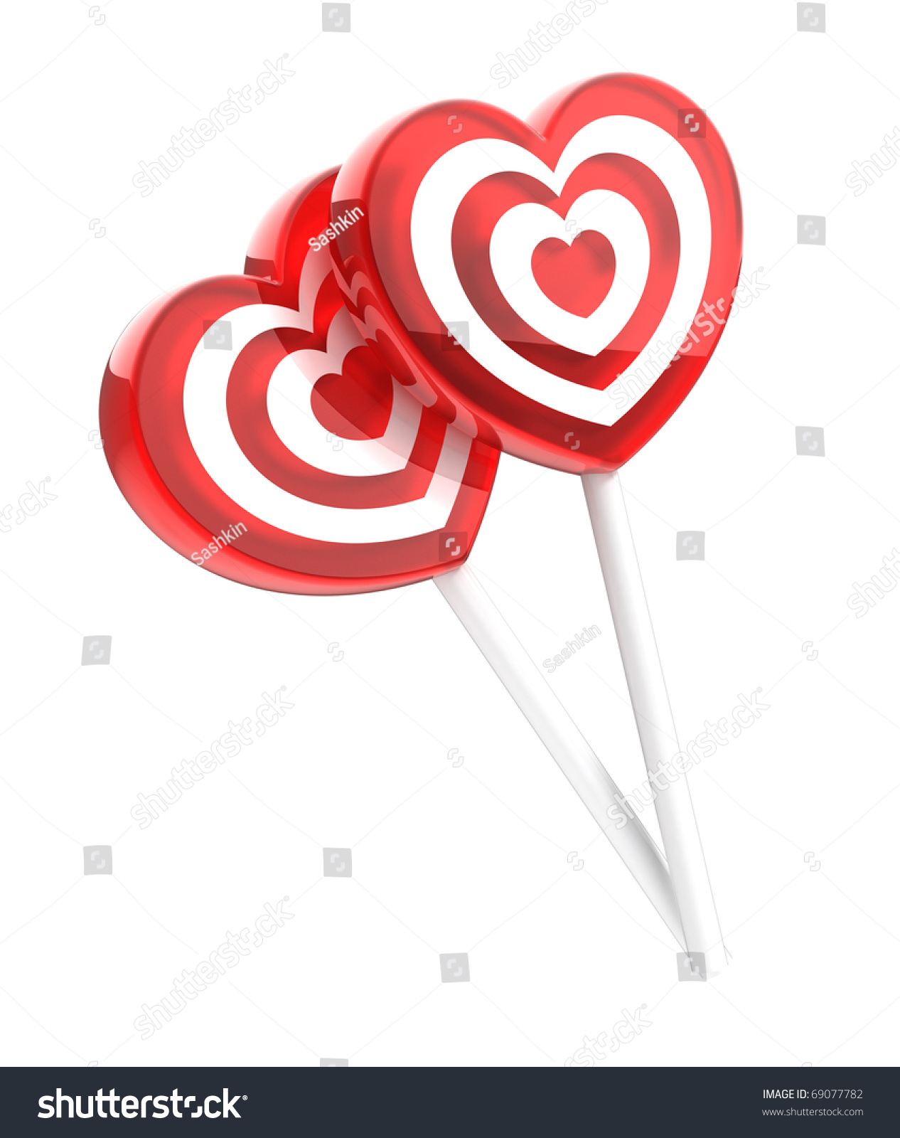 Two lollipops heart shaped isolated on stock illustration 69077782 two lollipops heart shaped isolated on white thecheapjerseys Gallery
