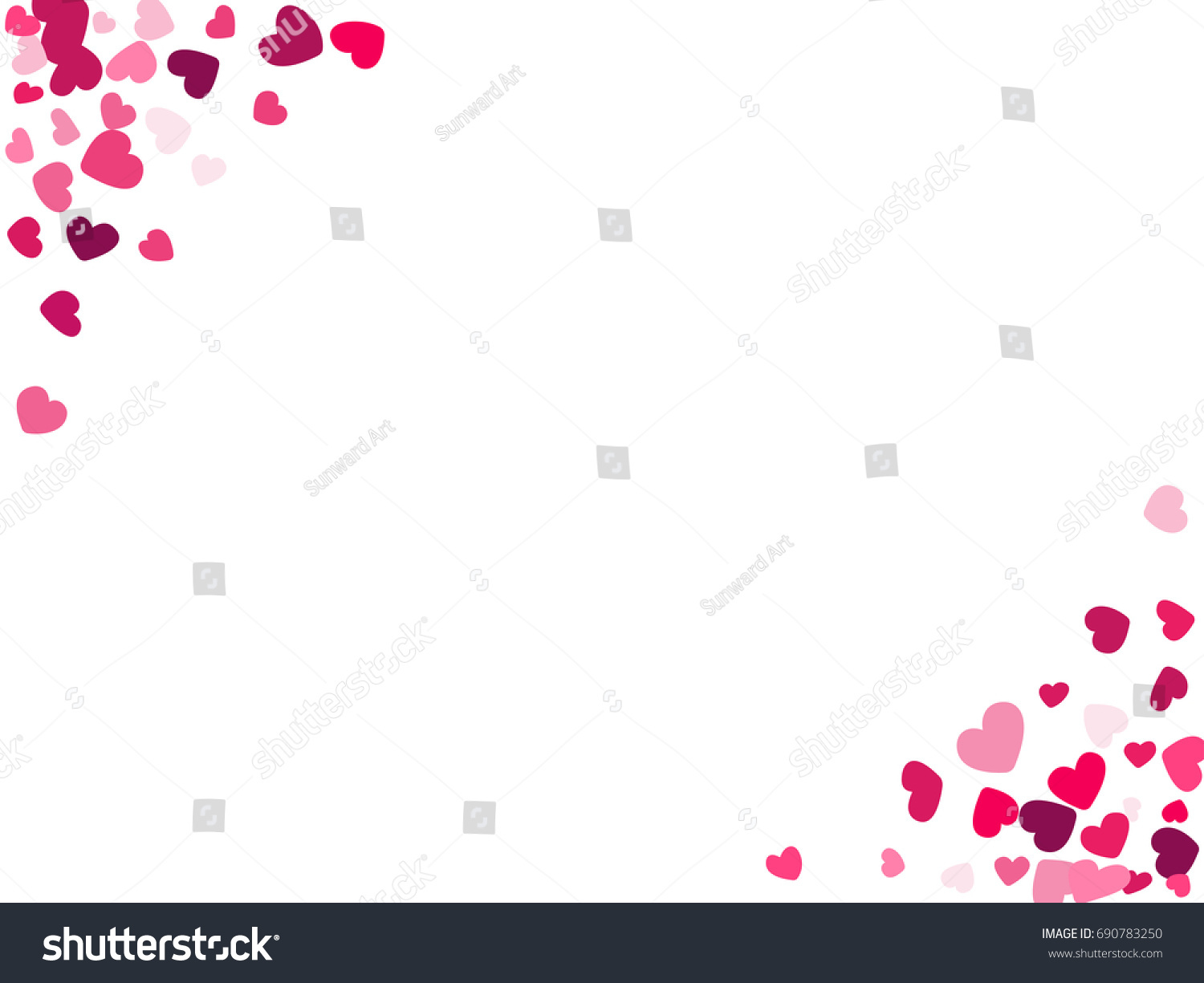 Hearts frame corners vector illustration text stock vector hearts frame corners vector illustration text stock vector 690783250 shutterstock biocorpaavc