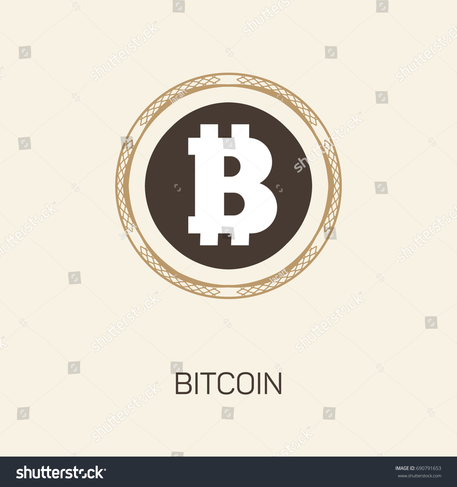 Cripto Currency Bitcoin Vector Logo Icon For Web Sticker Print A Crypto
